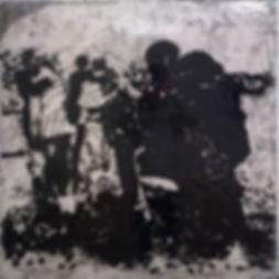 """""""После"""", плексиглас, пигмент, 100х100 см., 2014, автор Потапов Владимир"""