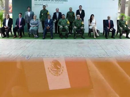 Reconoce Senado compromiso del Ejército Mexicano.