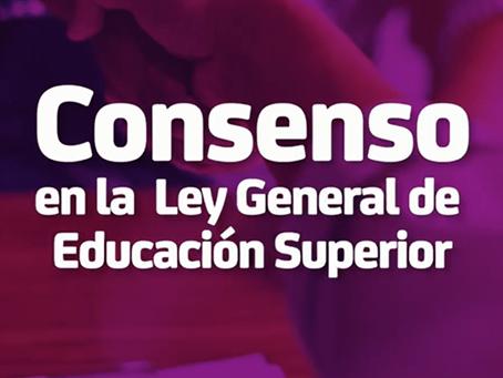 Consenso en la Ley General de Educación Superior