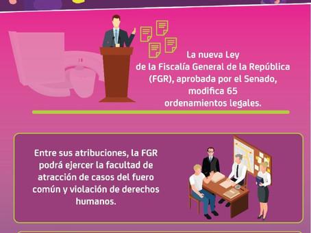La nueva ley de la Fiscalía General de la República.