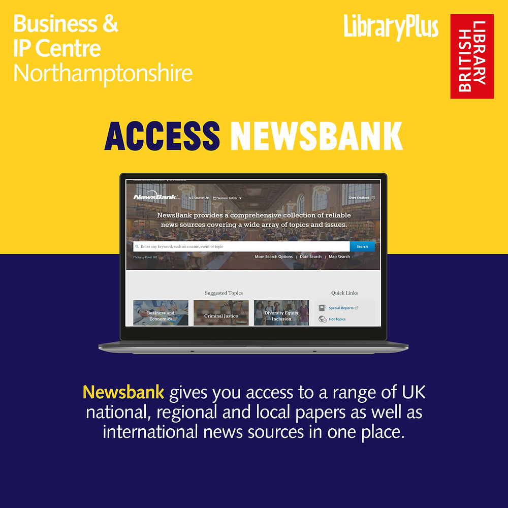 NewsBank gives you access to a range of UK national, regional and local papers, as well as international news sources in one place.