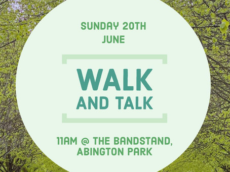 Walk and Talk at Abington Park for Women's Wellbeing