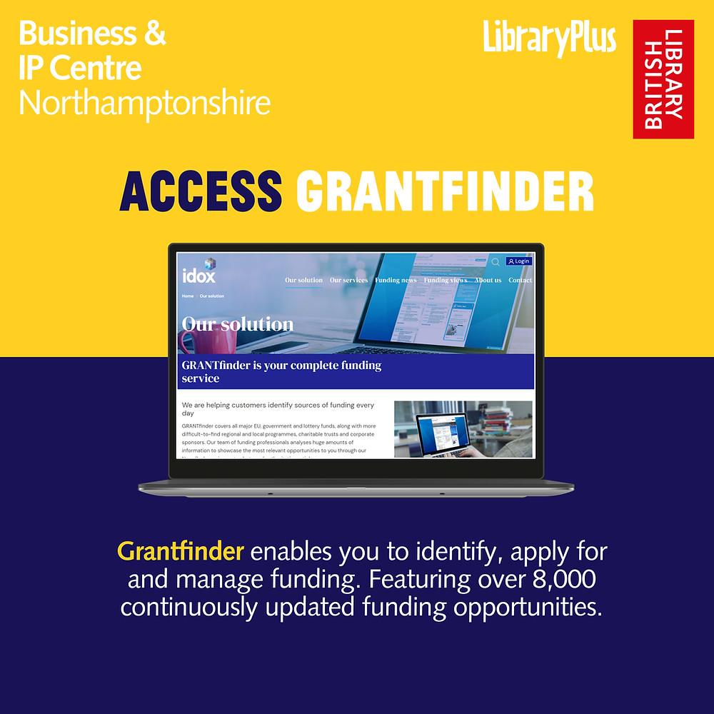 Grantfinder, Market Research Database Resource