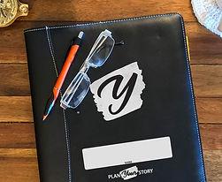 Plan Your Story leather-bound document portfolio