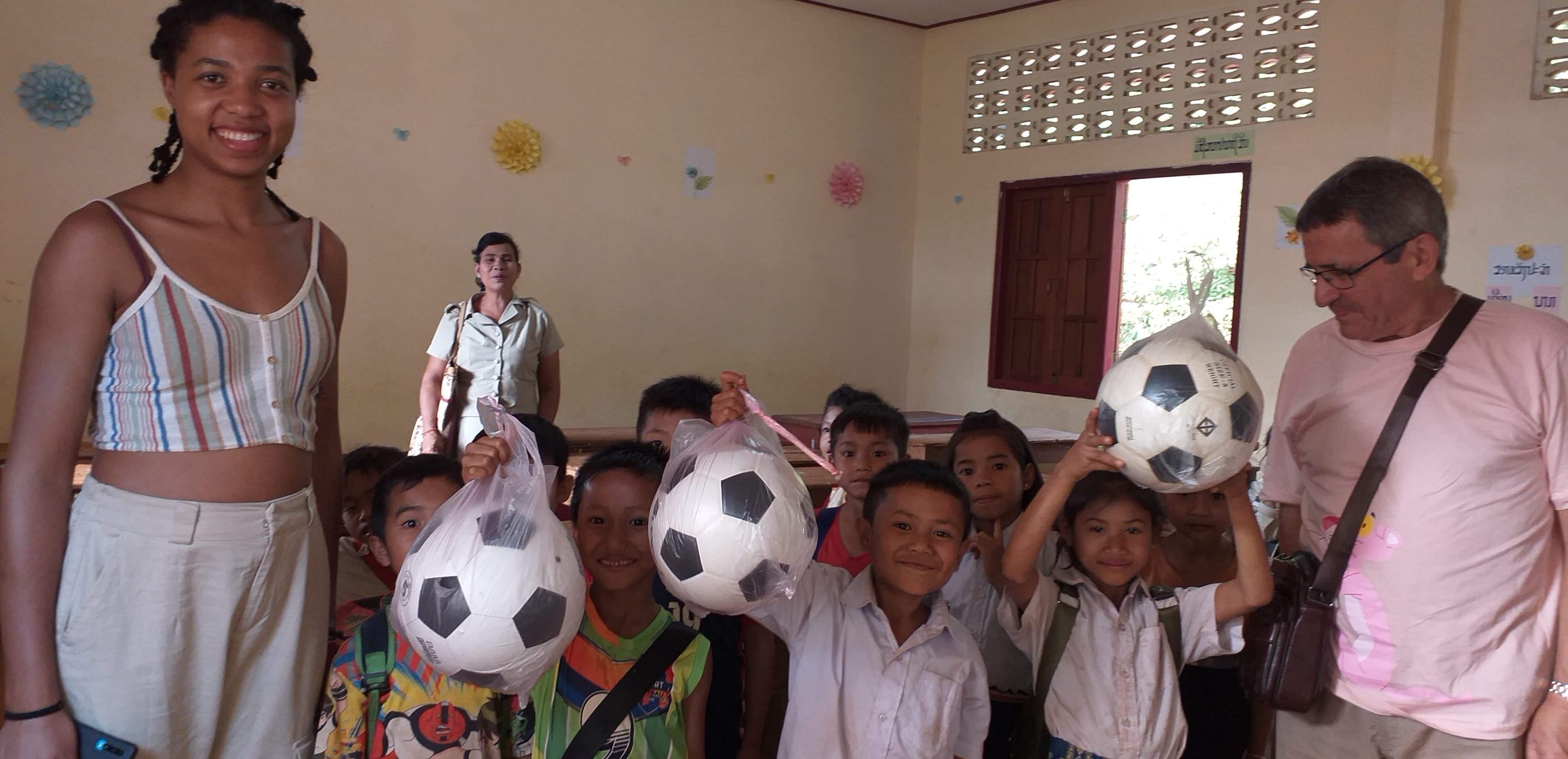 Distribution de ballons