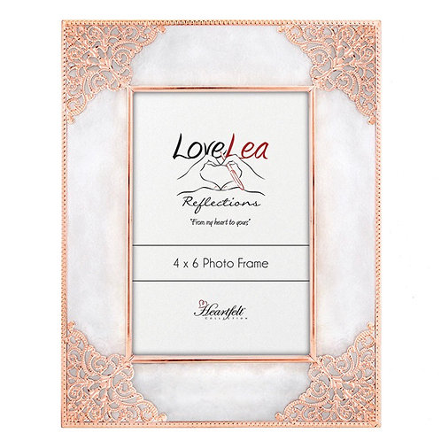 Pretty Rose Gold Frame (fits 4x6 photo)
