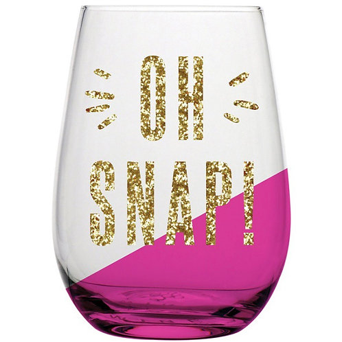 Oh Snap! Wine Glass