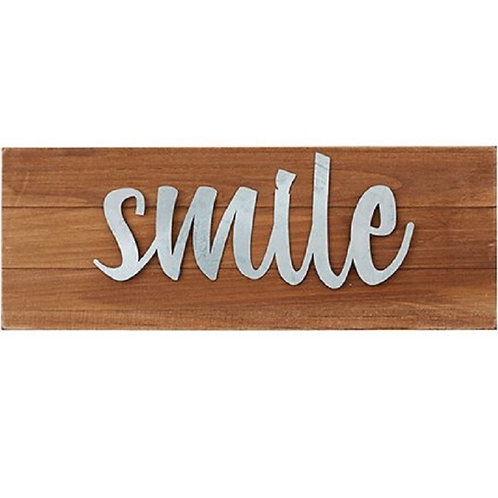 """""""Smile"""" Wall Decor/Tabletop Plaque (also available in """"grow"""" and """"stay humble"""")"""