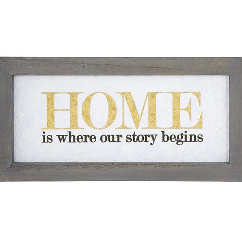 """""""Home is where our story begins"""" Framed Wall Art"""