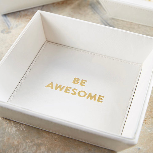"""""""Be Awesome"""" Tabletop Tray"""