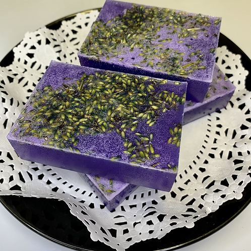 Lavender 💜 Soap Bar (with real lavender buds)