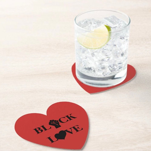 Black Love Coasters (set of 2)
