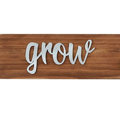 """""""Grow"""" Wall Decor/Tabletop Plaque (also available in """"Stay Humble"""" and """"smile"""")"""