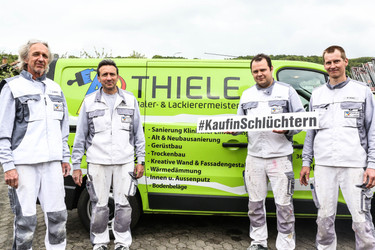 Maler Thiele und sein Team