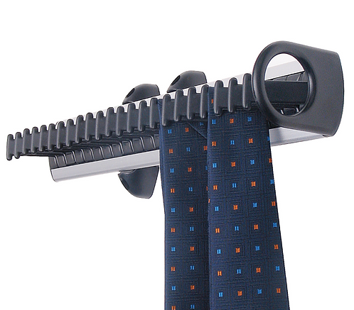 Tie Rack, Pull Out - Black, holds 23 Ties (1491155)