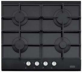 FRANKE 60cm Black Glass Gas Cooktop (FCG604B1)