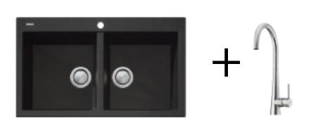 Oliveri Topmount Sink & Tap GOLD PACKAGE 1