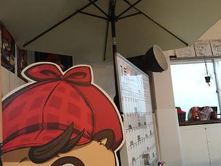 室内に傘!?