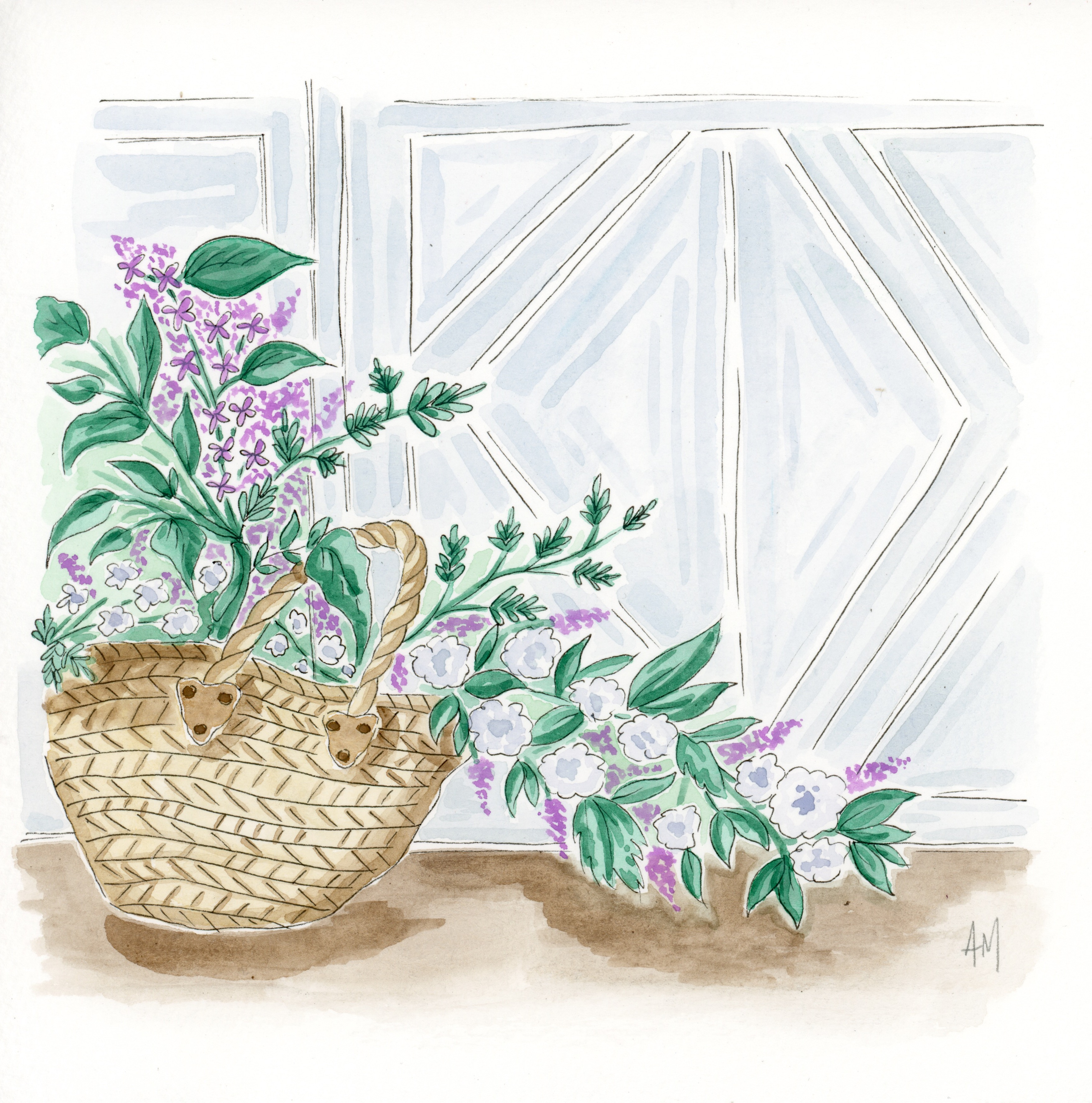 Barnyard Flowers Illustration