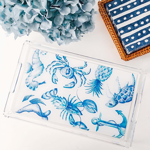 Coastal Creatures Serving Tray