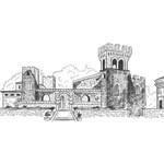 Italian Castle Wedding Venue Sketch