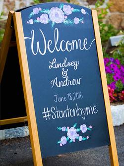 Custom Wedding Chalkboard Sign