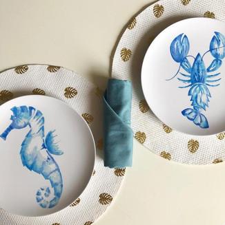 Coastal Melamine Plates