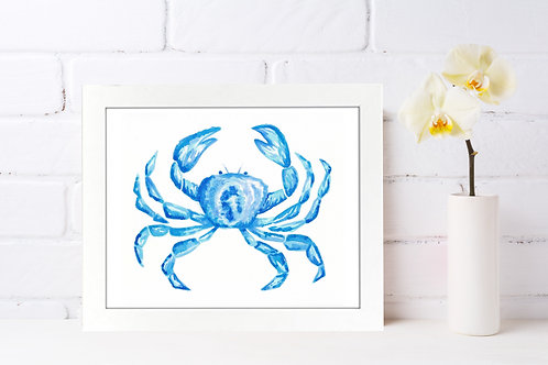 Crabby Blues 8x10 Watercolor Print