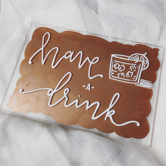 Hand-Painted Acrylic Bar Signs