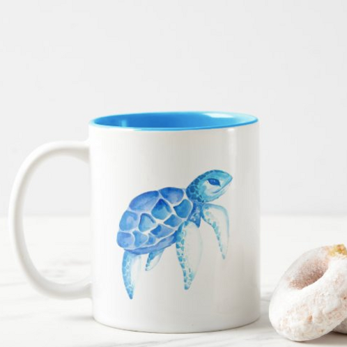 Sea Turtle Two-Toned Mug, 11 oz.