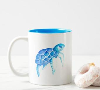 Coastal Sea Turtle Mug