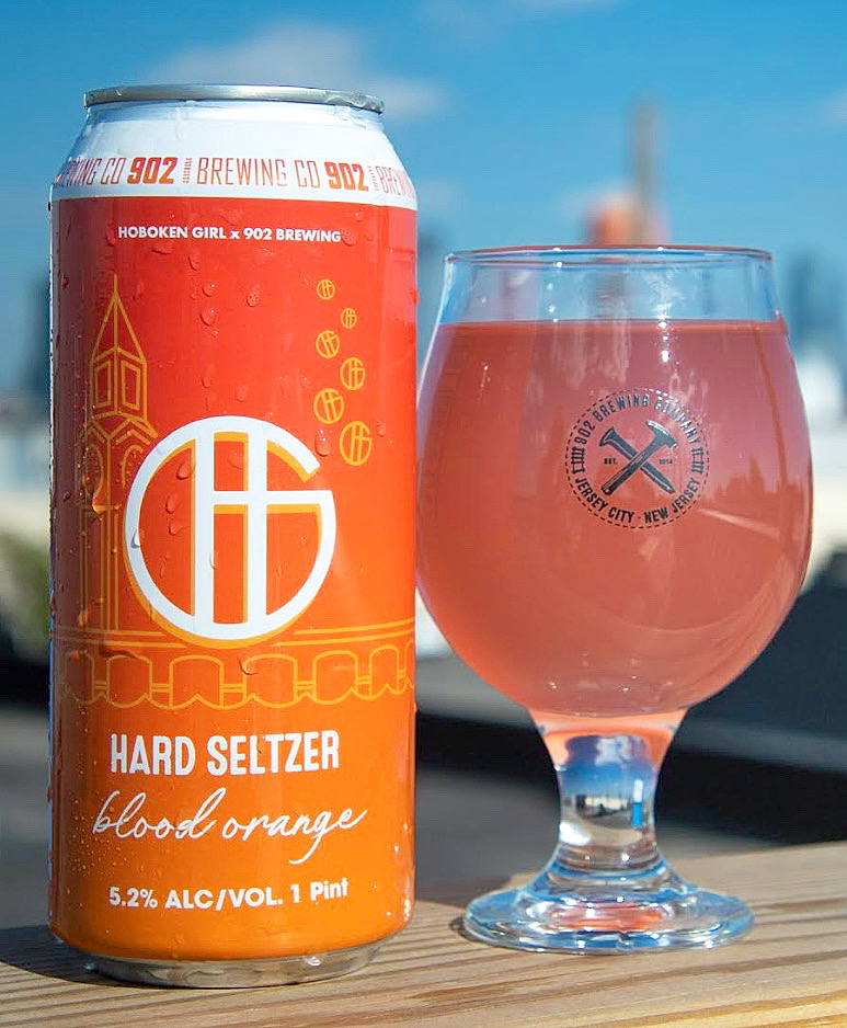 Hoboken Girl x Alexa Martin Designs Hard Seltzer Can Design