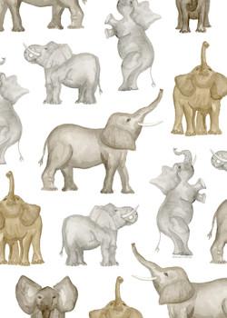 World_Elephant_Day_Pattern