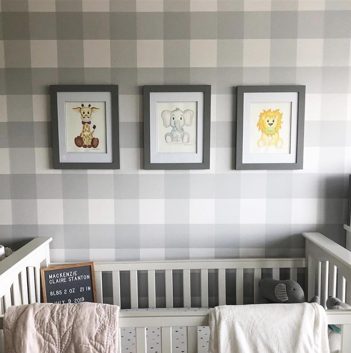 Bo'Tied Baby Animal Nursery Paintings