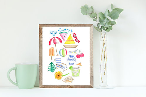 Signs of Summer Print, 8x10