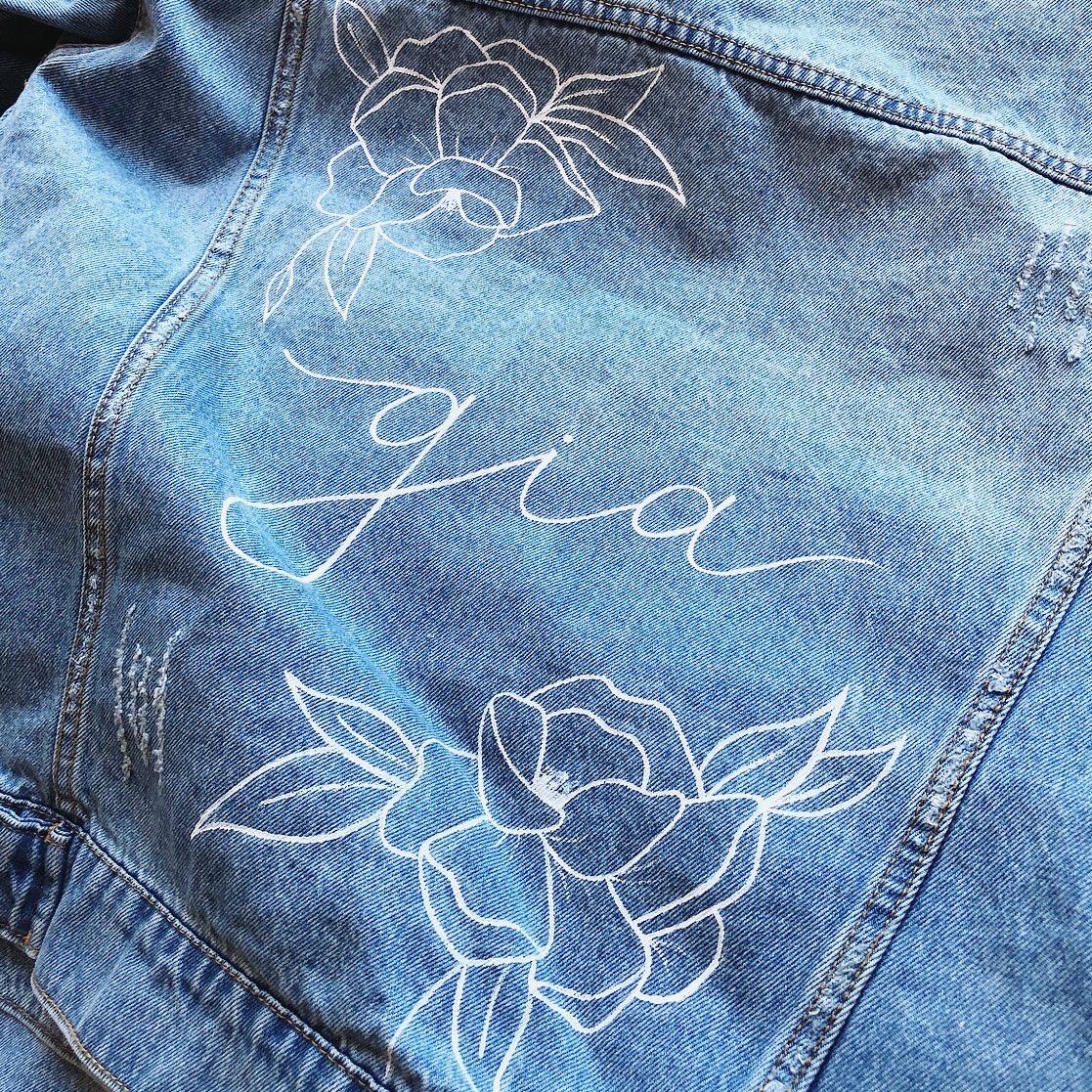 Custom Denim Bridesmaid Jackets
