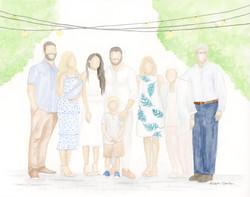 Summery Family Portrait