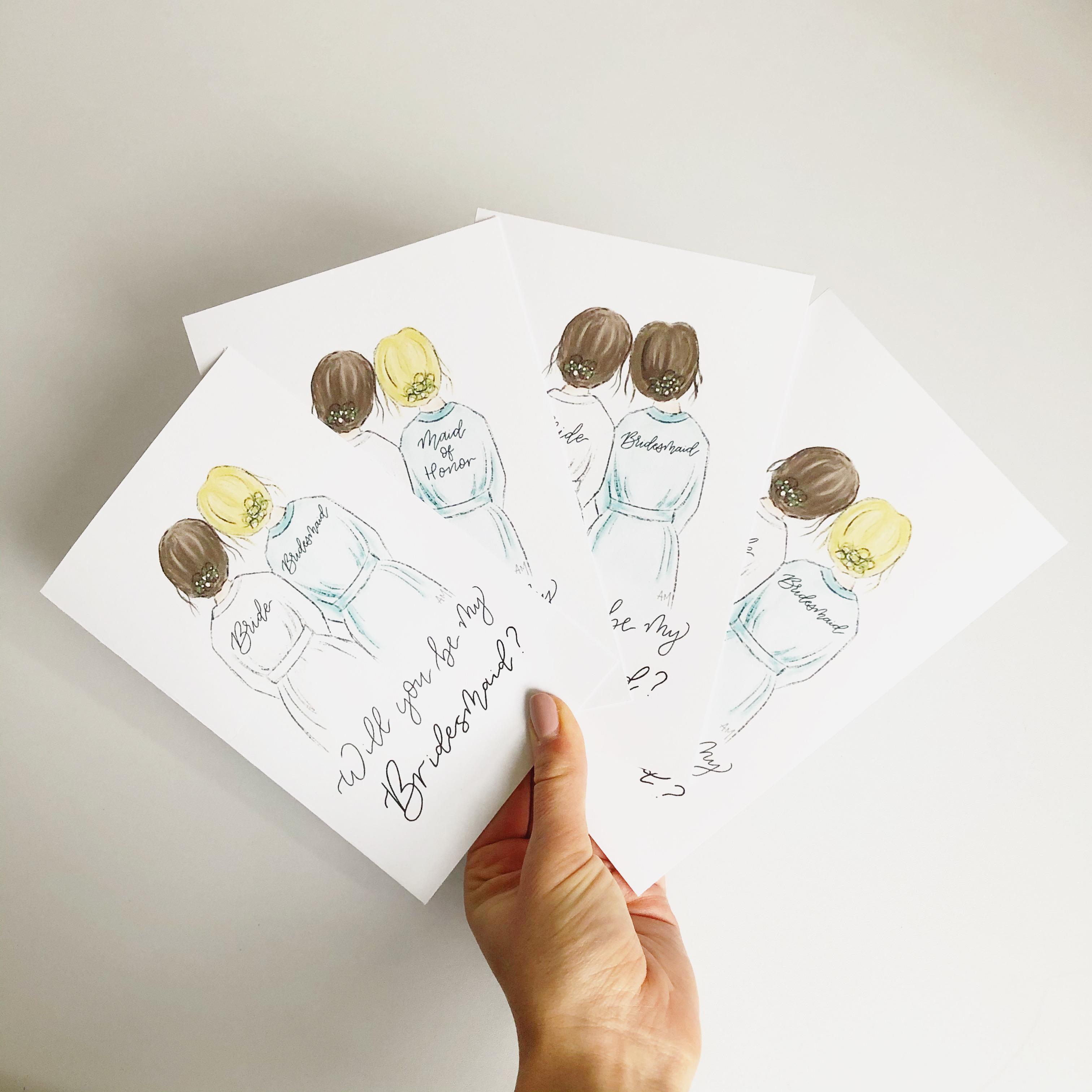 Custom Designed Bridal Cards