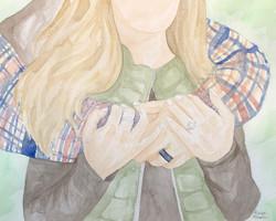 Engagement Watercolor Portrait