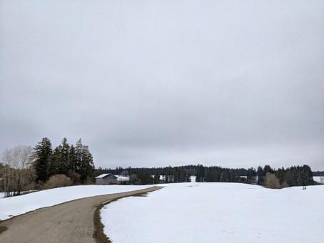 Durch die Schneelandschaft zwischen Lengenwang und Seeg