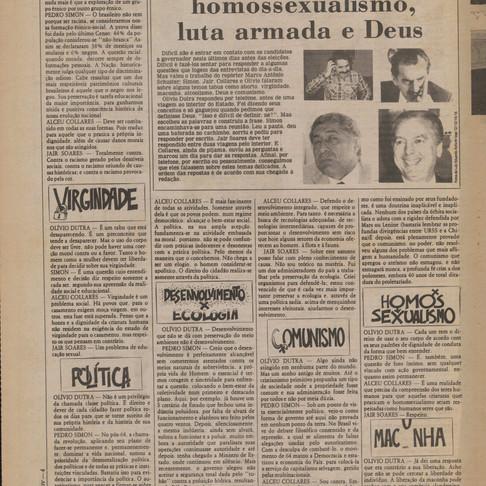 O pleito ao governo do RS em 1982 - Candidatos são entrevistados pelo Coojornal