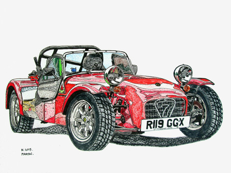 Car Artist Neil Martin raises funds for Race against Dementia