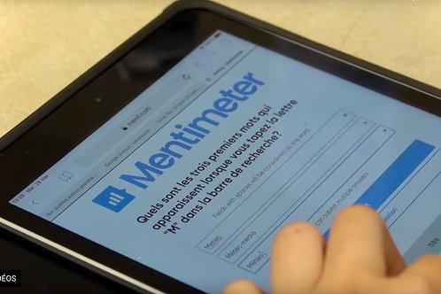 Tablette numérique et outil de questionnaire en ligne pour la ressource «La recette des algorithmes»