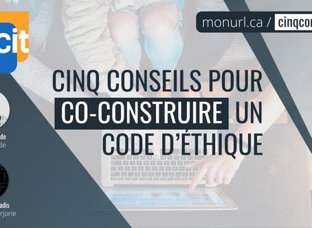 WEBINAIRE• Cinq conseils pour co-construire un code d'éthique