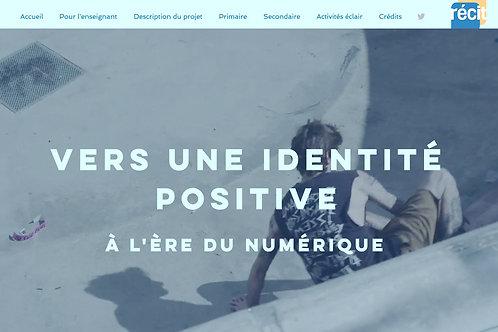 Capture d'écran de la page d'accueil du site «Vers une identité positive à l'ère du numérique»
