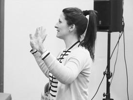 Annie Tubide en cours d'animation