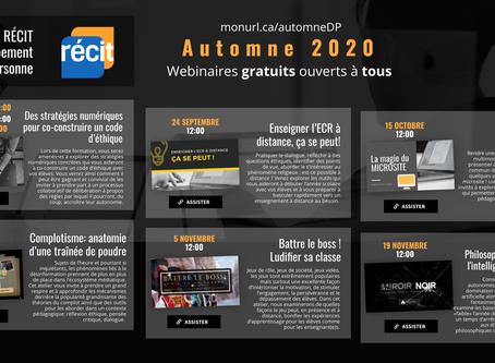OFFRE DE FORMATIONS (AUTOMNE 2020)