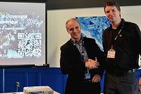 Benoit Petit et Éric Roy lors du lancement du rapport en octobre 2018