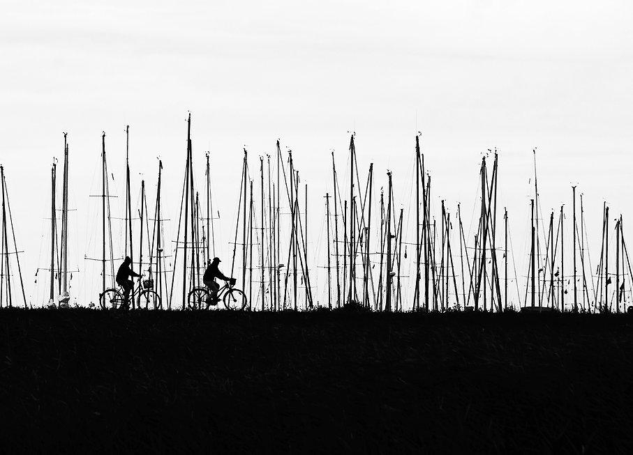 Hiddensee, Radfahrer, Ostsee
