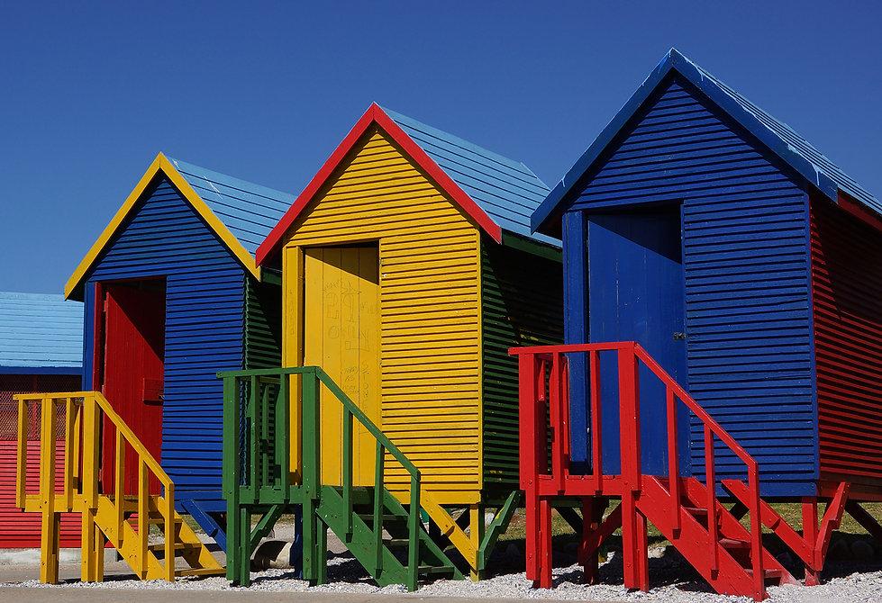 Beach houses, Muizenberg, Kapstadt Impressionen